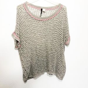 Absolutely Creative Worldwide Grey Crochet Sweater